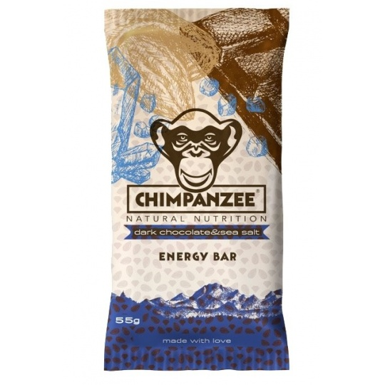 CHIMPANZEE  ENERGY BAR Dark Chocolate - Sea Salt 55g