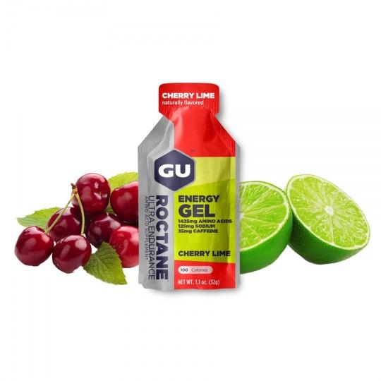 GU Roctane Energy Gel 32 g - Cherry/Lime (balení 10ks)