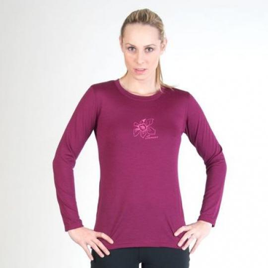 SENSOR MERINO ACTIVE PT ORCHID dámské triko dl.rukáv lilla Velikost: