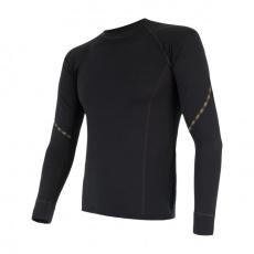 SENSOR MERINO AIR pánské triko dl.rukáv černá Velikost: