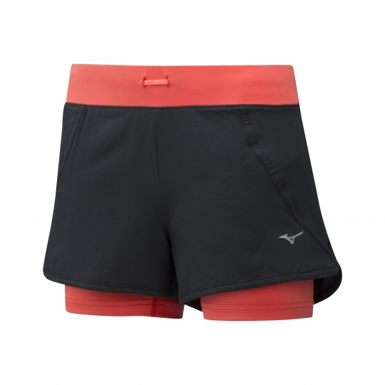 Mujin 4.5 2in1 Short/Black/Hot Coral