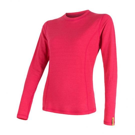 SENSOR MERINO DF dámské triko dl.rukáv magenta  Velikost: