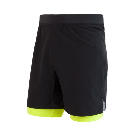 SENSOR TRAIL pánské šortky černá/reflex žlutá