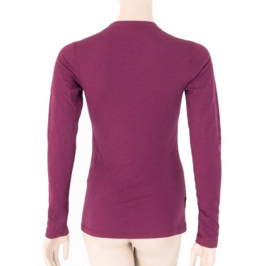 SENSOR MERINO DF dámské triko dl.rukáv lilla