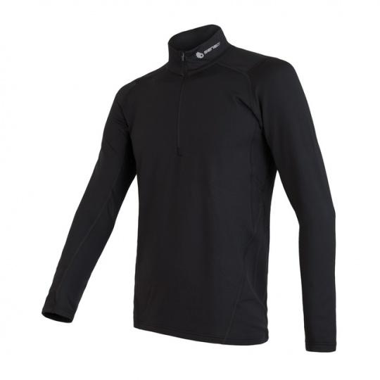 SENSOR THERMO pánské triko dl.rukáv zip černá