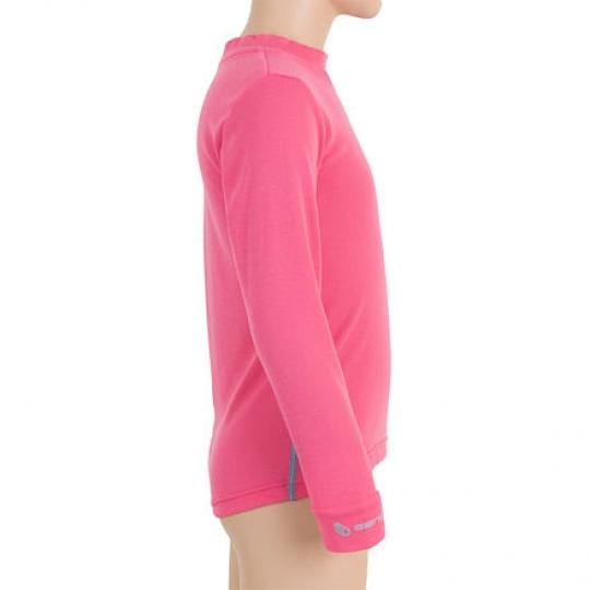 SENSOR ORIGINAL ACTIVE dětský set triko dl.rukáv + spodky růžová Velikost: