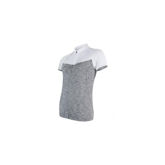 SENSOR CYKLO MOTION dámský dres kr.rukáv celozip šedá/bílá