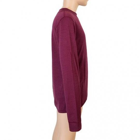 SENSOR MERINO DF LOGO juniorské triko dl.rukáv lilla Velikost: