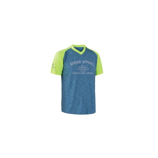 SENSOR CYKLO CHARGER pánský dres volný kr. rukáv modrá/reflex žlutá