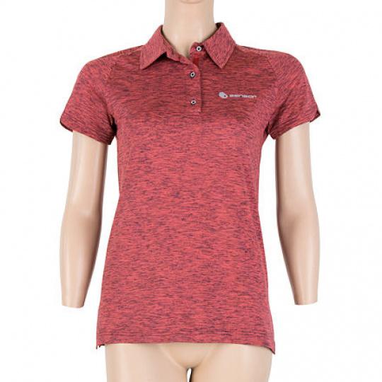 SENSOR MOTION dámské triko polo kr.rukáv růžová Velikost: