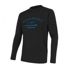 SENSOR MERINO ACTIVE PT LABEL pánské triko dl.rukáv černá Velikost:
