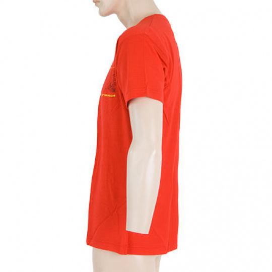 SENSOR MERINO ACTIVE PT GPS pánské triko kr.rukáv červená Velikost: