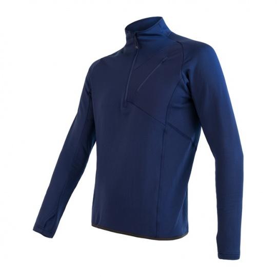 SENSOR TECNOSTRETCH pánská mikina kr.zip deep blue