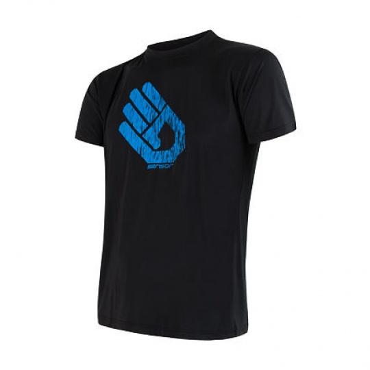 SENSOR COOLMAX FRESH PT HAND pánské triko kr.rukáv černá Velikost: