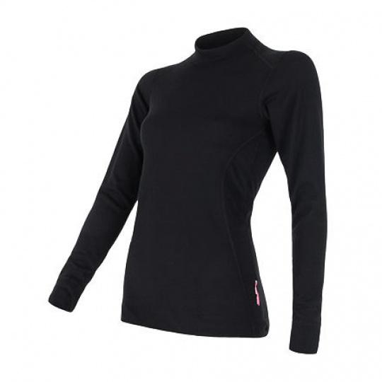 SENSOR DOUBLE FACE dámské triko dl.rukáv černá Velikost: