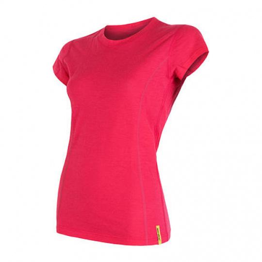 SENSOR MERINO ACTIVE dámské triko kr.rukáv magenta Velikost: