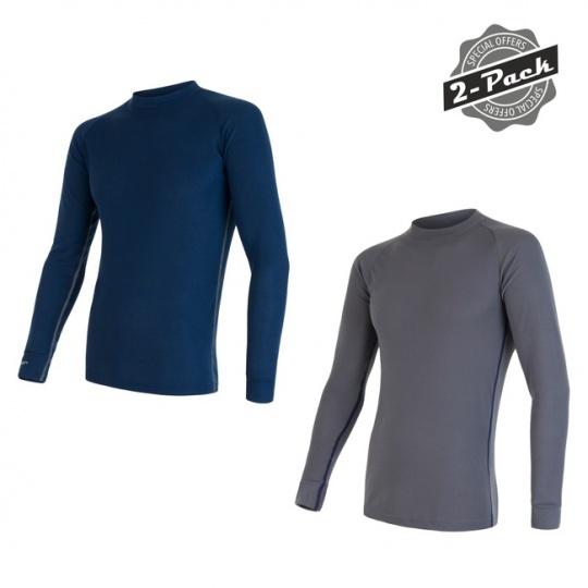 SENSOR ORIGINAL ACTIVE 2-PACK pánský triko dl.rukáv šedá + modrá