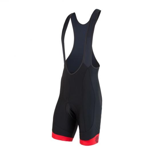 SENSOR CYKLO RACE pánské kalhoty krátké se šlemi černá/červená