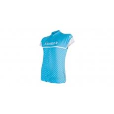 SENSOR CYKLO DOTS dámský dres kr.rukáv modrá