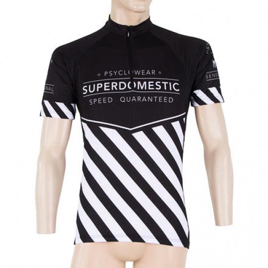 SENSOR CYKLO SUPERDOMESTIC pánský dres kr.ruk. černá Velikost: