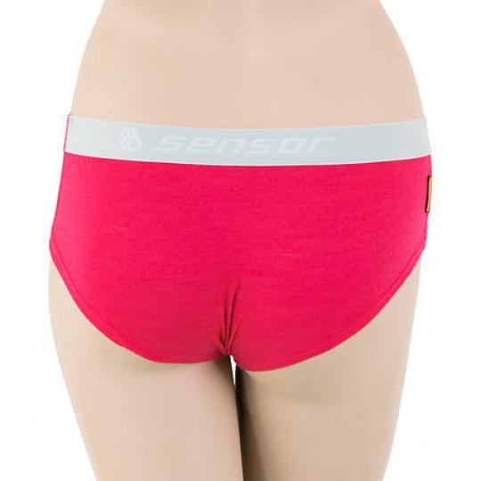 SENSOR MERINO AIR dámské kalhotky magenta Velikost:
