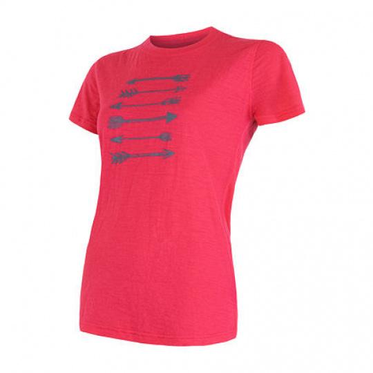 SENSOR MERINO ACTIVE PT ARROWS dámské triko kr.rukáv magenta Velikost: