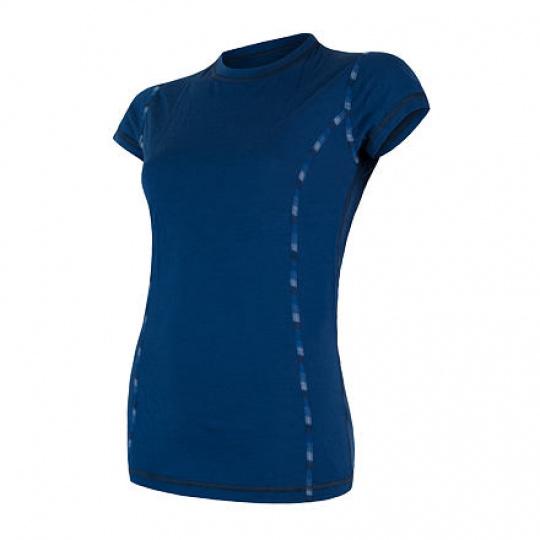 SENSOR MERINO AIR dámské triko kr.rukáv tm.modrá Velikost: