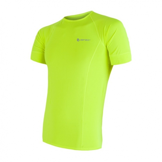 SENSOR COOLMAX FRESH pánské triko kr.rukáv žlutá reflex