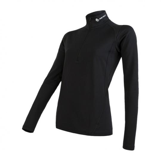 SENSOR THERMO dámské triko dl.rukáv zip černá