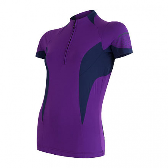 SENSOR CYKLO RACE dámský dres kr.ruk. fialová/tm.modrá Velikost: