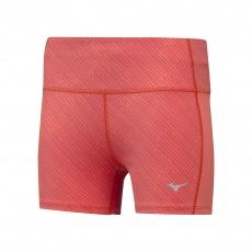 Impulse Printed Short Tight/Hot Coral