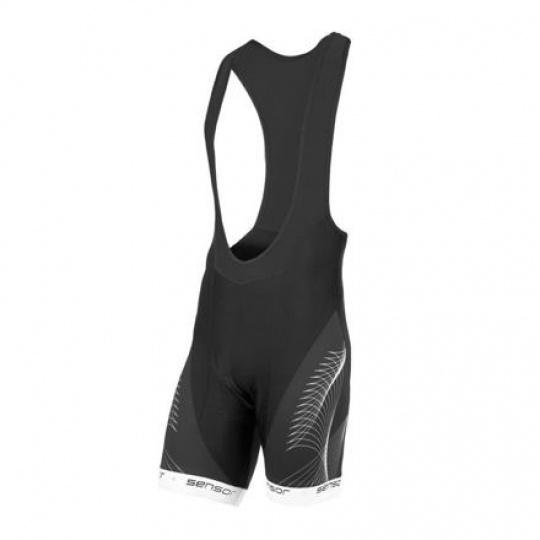 SENSOR CYKLO TEAM UP pánské kalhoty krátké se šlemi černá/bílá Velikost:
