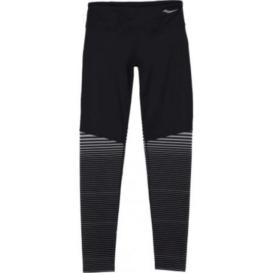 SAUCONY WOMEN OMNI REFLEX TIGHT BLACK