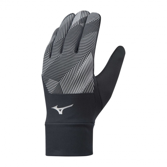 MIZUNO Windproof Glove ( 1 pack )  / Black/Black /
