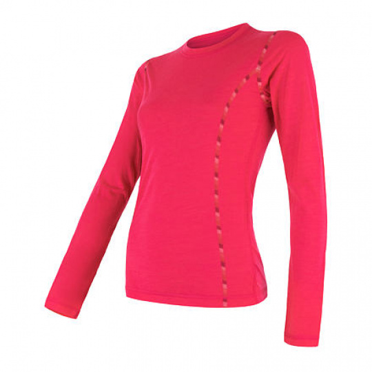 SENSOR MERINO AIR dámské triko dl.rukáv magenta Velikost: