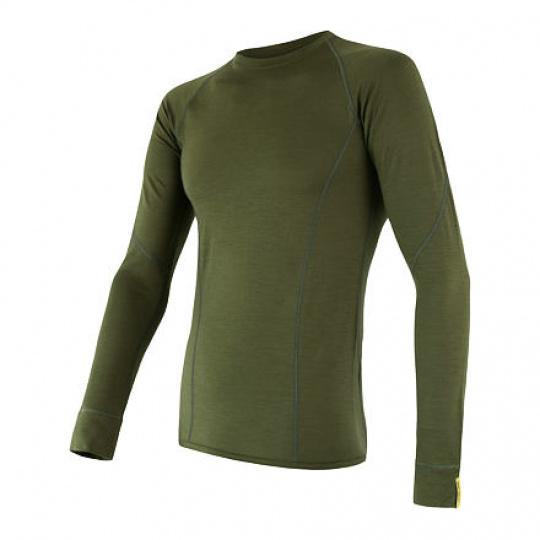 SENSOR MERINO ACTIVE pánské triko dl.rukáv safari green Velikost: