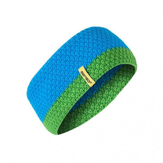 SENSOR ČELENKA pletená modrá