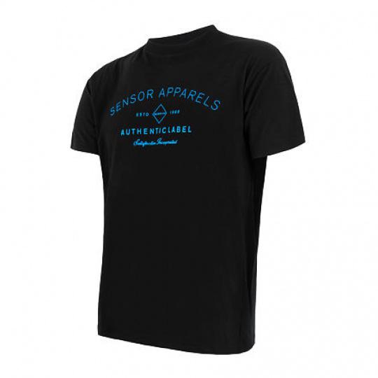 SENSOR MERINO ACTIVE PT LABEL pánské triko kr.rukáv černá Velikost: