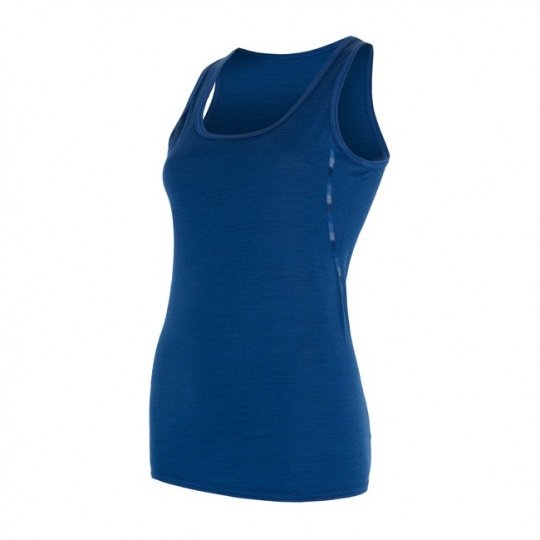 SENSOR MERINO AIR dámské triko bez rukávu tm.modrá