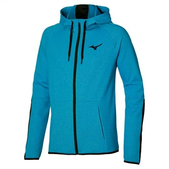 Mizuno Athletic Zip Hoody / Mykonos blue /
