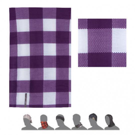 SENSOR TUBE KOSTKA šátek multifunkční fialová/bílá