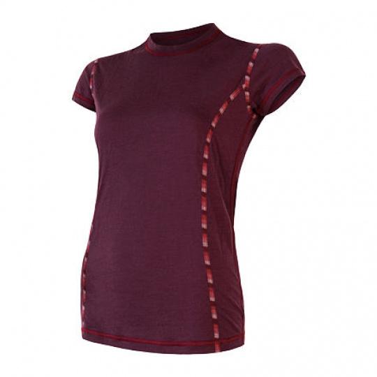 SENSOR MERINO AIR dámské triko kr.rukáv port red Velikost: