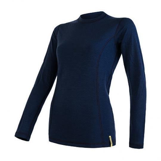 SENSOR MERINO DF dámské triko dl.rukáv deep blue Velikost: