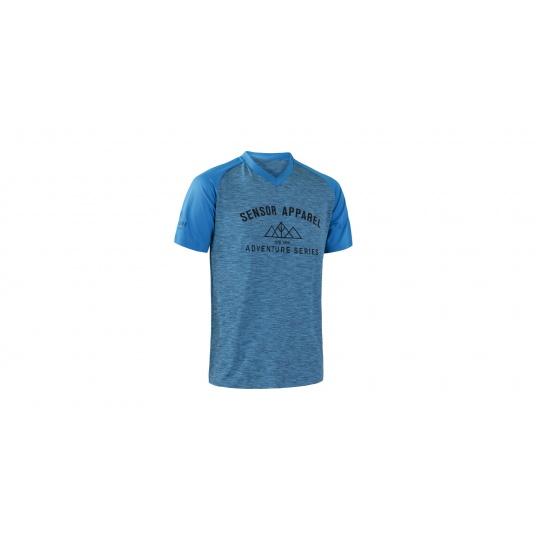 SENSOR CYKLO CHARGER pánský dres volný kr. rukáv modrá