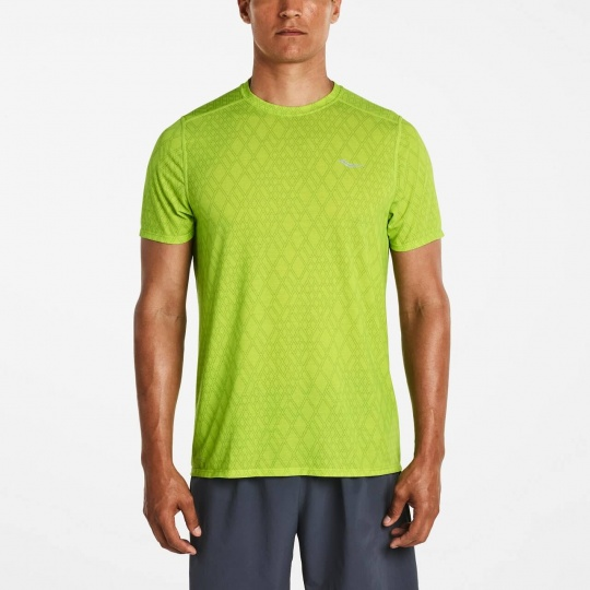 SAUCONY MEN FREEDOM SHORT SLEEVE CHARTREUSE