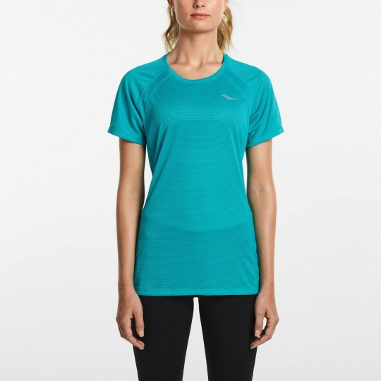 SAUCONY WOMEN HYDRALITE SHORT SLEEVE BARBADOS