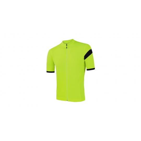 SENSOR CYKLO CLASSIC pánský dres kr.rukáv celozip reflex žlutá