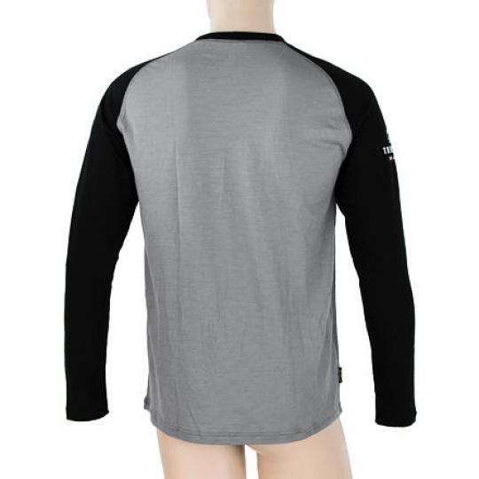 SENSOR MERINO ACTIVE PT ADVENTURE pánské triko dl.rukáv šedá/černá Velikost: