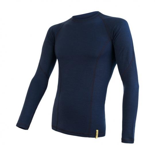 SENSOR MERINO DF pánské triko dl. rukáv deep blue