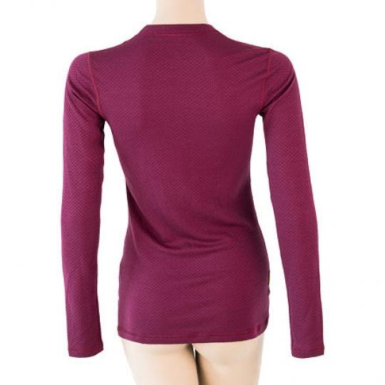 SENSOR MERINO DF LABEL dámské triko dl.rukáv lilla Velikost: